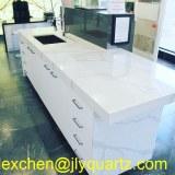 Kimria quartz abordable prix blanc calacatta quartz vanité comptoirs
