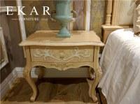 Europen Style Bedroom Furniture Wood Antique Flower Nightstand