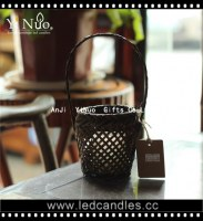 Candle holder eco-friendly bamboo fruit basket bamboo home decoration