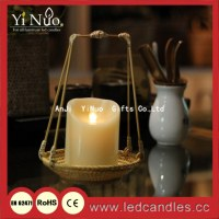 2015 Lanterns with LED candle. bamboo candle lantern garden light