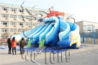 Hot sale best quality ocean park inflatable water pool slide on sale !!!