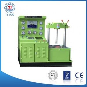 Vertical valve hydraulic test bed