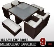 Jardin patio extérieur meubles tissé en rotin osier de luxe Sofa Set