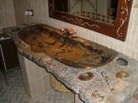 LAVABO seul en marbre fossilisé