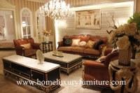 Sofa classique moderne moderne d'ensembles de salon de meubles de salon de sofa de sofa brun en...