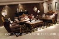 Genunie garnissent en cuir la vente chaude 2014 de salon de sofa de furnitue de sofa de table bas...