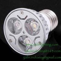 Lampe LED 3W tasse, E27 haute puissance projecteurs, aluminium éclairage à intensité ré...