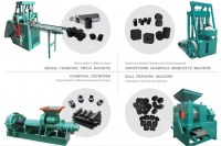 Ligne de transformation de charbon de bois en bois d'extrudeuse de briquette hydrauliqu...