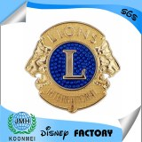 Custom metal lions badge, the lions clubs badge lapel pin emblem factory in China