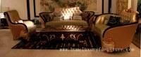 Le sofa en cuir avec le sofa de salon de coussin de tissu place des meubles de luxe de table basse