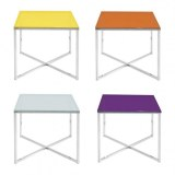 TABLE D'APPOINT RONDE OU CARRÉE DIVERSES COULEURS
