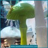 Custom Colored Fiberglass Mushroom Decoration