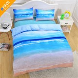 New Beach And Ocean Bedding Hot 3D Print Duvet Cover Cheap Vivid Bedclothes Twin Queen...