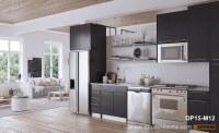 Modern Grey Matte Melamine Kitchen Cabinet OP15-M12