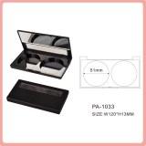 Matte double couleurs poudre compacte emballage cosmétiques avec miroir