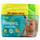 Pampers 80x baby dry N°4+ (multi)