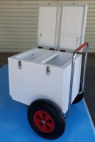 Trolley isotherme pour commerce ambulant