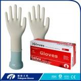 Gants en latex examen gants d'examen jetables en forme naturelle de qualité médicale