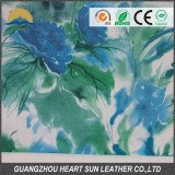 Beautiful transfer film pvc artificial leather for decorative