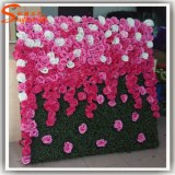 Indoor or outdoor wedding decoration flower artificial walls for hotel decoration,fake flower wal...
