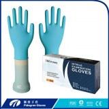 Jetables gants d'examen en nitrile noir soutenus gants de main