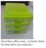 Plastic handy drawer cabinet storage box