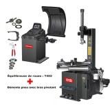 Machine à pneus et équilibreuse de roues kit spécial garage automobile PACK ECO
