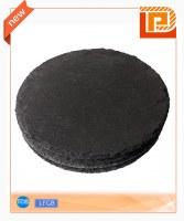 Black circular cheese slate