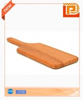 Wooden cheese chopping board with wooden handle