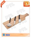 PP-handle cheese set with long chopping board(4 pieces)