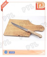Long wood-handled cheese knife with wooden chopping board(2 pieces)