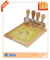 Magnetic cheese set with good-looking glass chopping board(5 pieces)