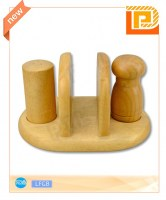 Wooden Shaker With Stand