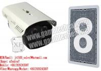 XF PTZ caméra à balayage de dos de voir les marques sur le dos de cartes à jouer marquées