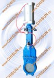 QY Pneumatic actuator knife gate valve