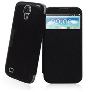 Etui en Cuir S-View Cover avec la coque arrière remplaçable pour Samsung Galaxy S4 i9500