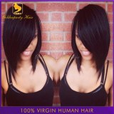 Top quality hot Brazilian lace front bob cut wigs 100% natural human hair short cut lac...