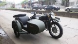 Customized green color motorcycle sidecar