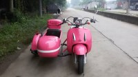 Pink mini cute electric motorcycle sidecar