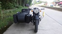 Customized grey color 750cc motorcycle