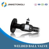 JKTL Single Flanged Stainless Steel Welded Ball Valve