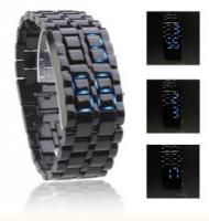 Montre LED Edition Cobra, Uni, Sans Cadran - Noire