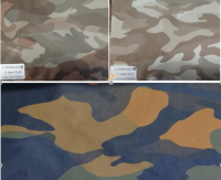Popular Wearable Camouflage PU Synthetic Leather for Garment