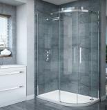 Porte de douche en verre trempé coulissante