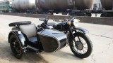 Customized black color changjiang750 motorcycle sidecar