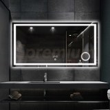 S-3614 48 Inch Wide Bathroom Mirror with Lights and Magnifier