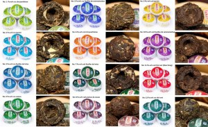 Mini tuo de thé pu-erh 12 variétés saveurs en vrac