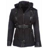 Ladies Black Textile Fashion Jacket USI-9630-A