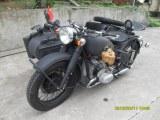750cc 24hp German grey Motorcycle with Sidecar