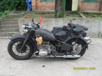 Cool military theme classic CJ750cc matted black military Motorcycle